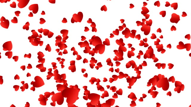 Red Hearts Confetti Explosion video