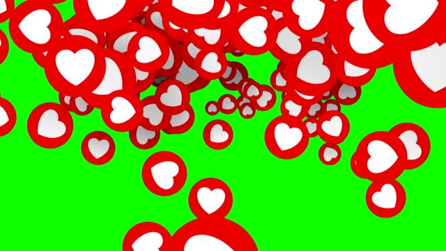 красные сердца перехода. романтические блестящие предметы для валентинок, свадьбы или любви. переходные маски. - valentines day стоковые видео и кадры b-roll