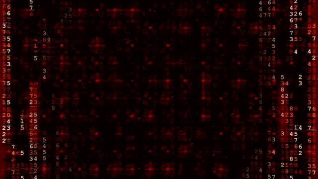 Red Hi-Tech Digital Futuristic Background.