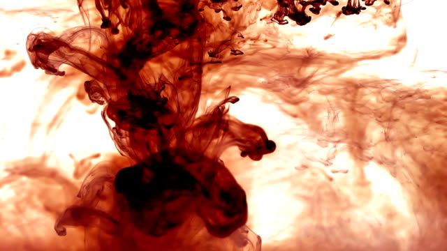 Red Ink in water video