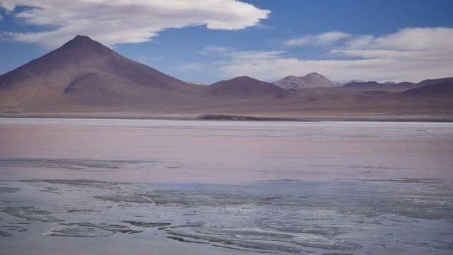 Red Lagune with clouds Not stabalized Video, its very windy in this area. red-colored microorganisms stain the lake red under certain wind conditions wasser videos stock videos & royalty-free footage