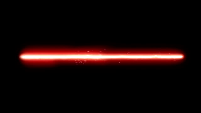 Red Laser Beam A red hot laser beam. Sparkling and twitching. Computer generated video. laser stock videos & royalty-free footage