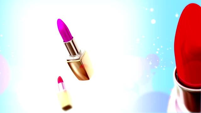 red lipstick - rossetto rosso video stock e b–roll