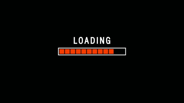 Red Loading Bar Indicator On Dark Background Screen Animation
