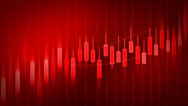 red loop business graph concept - candeliere video stock e b–roll