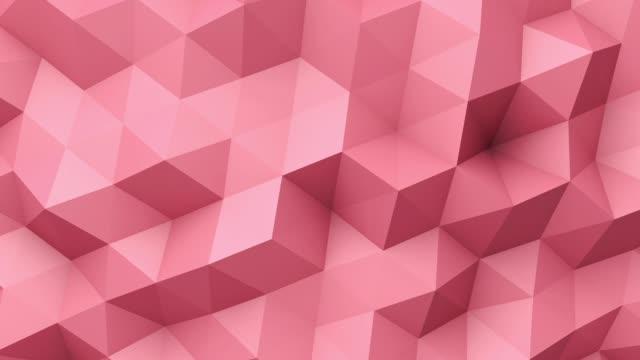 kırmızı düşük poli doku - mozaik stok videoları ve detay görüntü çekimi