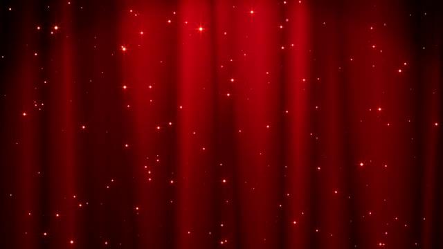 vídeos y material grabado en eventos de stock de fondo rojo feliz navidad con estrellas doradas. walpaper día de san valentín - cortina