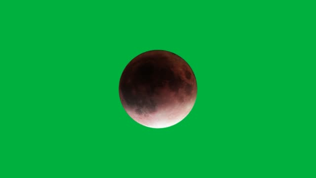 red moon phases green background