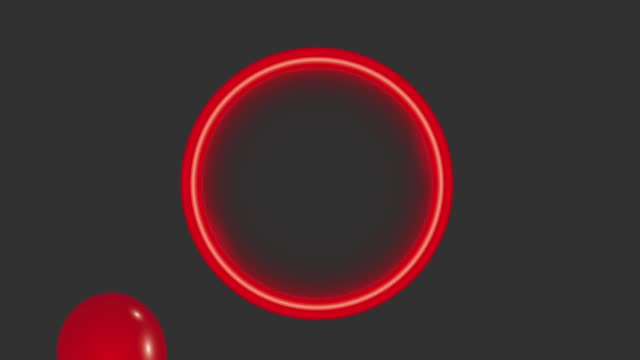 red neon round frame balloons black background black friday animation hd video
