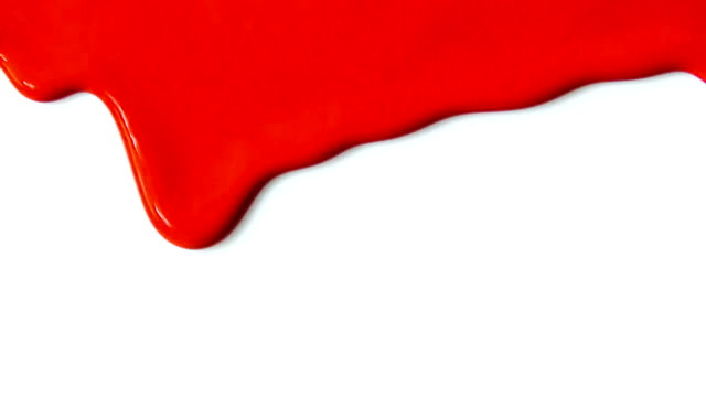 Red paint dripping. Red paint dripping on white background. drop stock videos & royalty-free footage