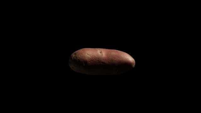 red potato rotating on black background red potato rotating on black background side lit stock videos & royalty-free footage