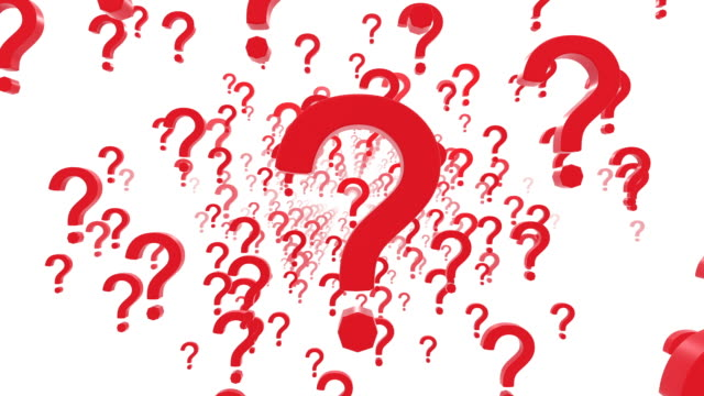 red question marks. (loop ready) - question mark video stock e b–roll