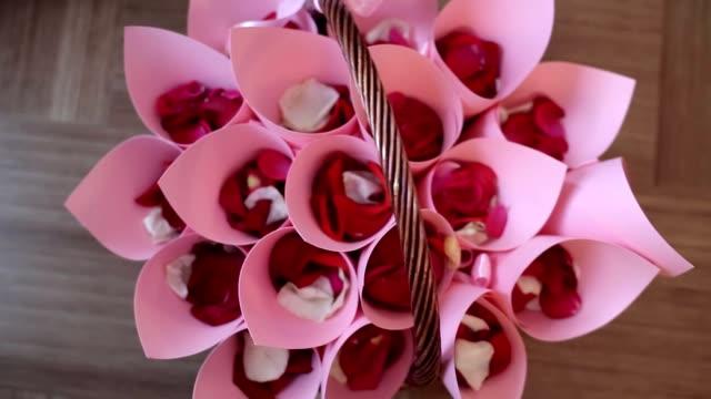 Red rose petals video