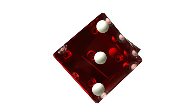 Red Rotating Dice video