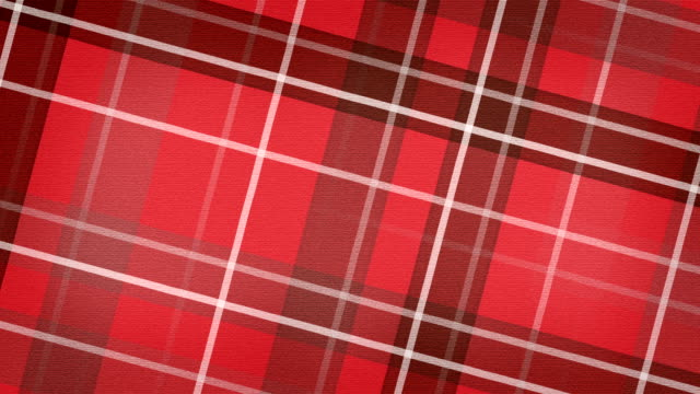 red scottish checked fabric loopable background video