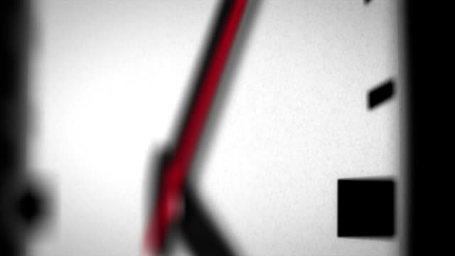 HD Red Second Hand Moving on Clock Face video