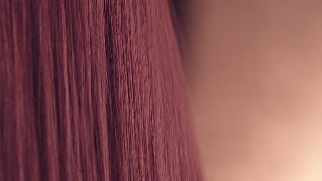 Red shiny hair video