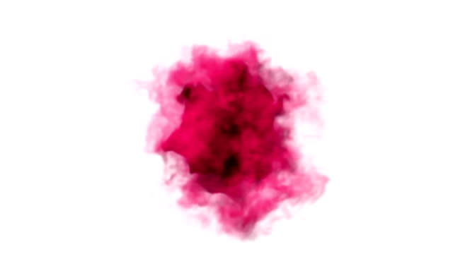 Red smoke explosion around the black circle. video