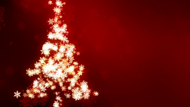 Red Snow Flake Christmas Tree Glowing SnowFlakes Christmas Tree background animation suited for broadcast, commercials and presentations. It can be used in Celebration, Party,christmas,holidays and Fashion or New Year animations. {{asset.href}} stock videos & royalty-free footage