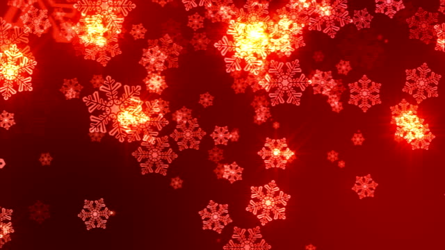 Red Snowflakes Christmas Background video