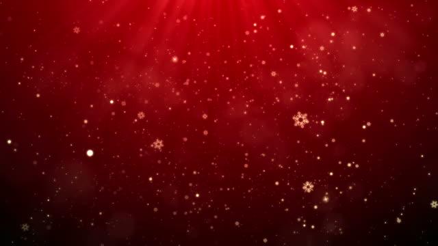 stockvideo's en b-roll-footage met rode sneeuwvlokken vallen kerstmis achtergrond - background baby