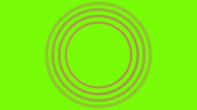 4K Red Sonar Circle Loopable with green screen