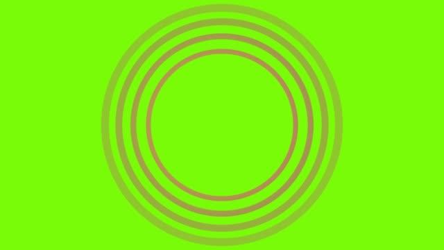 vidéos et rushes de 4k red sonar circle loopable avec écran vert - épingle