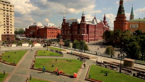vídeos y material grabado en eventos de stock de la plaza roja y al kremlin, vista aérea - rusia