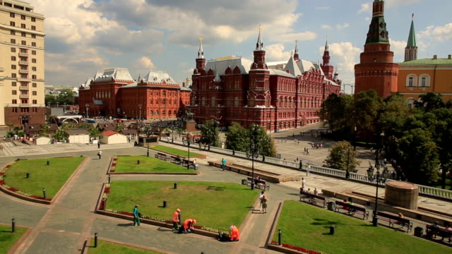 Red Square and Kremlin, aerial view Red Square and Kremlin, aerial view HD square composition stock videos & royalty-free footage