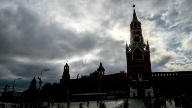 Red Square Moscow Clock Tower. video