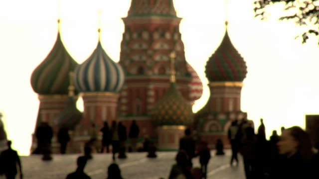 Red Square, Moscow, Russia, St Basil Cathedral  russian ethnicity stock videos & royalty-free footage