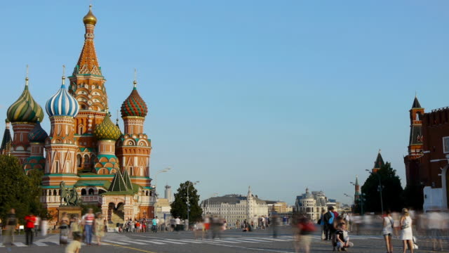 Red square. Moscow Time lapse russian culture stock videos & royalty-free footage