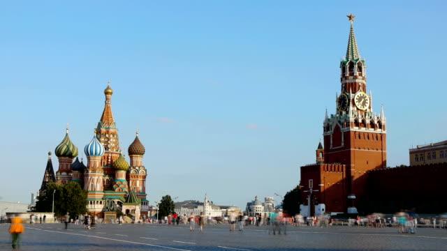 red square. moscow - kreml bildbanksvideor och videomaterial från bakom kulisserna
