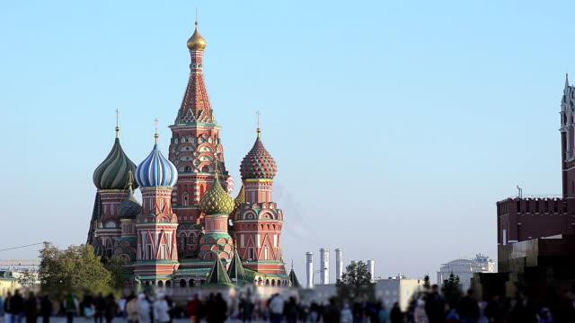 röda torget st basils kyrka - kreml bildbanksvideor och videomaterial från bakom kulisserna