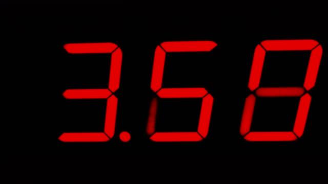 vidéos et rushes de minuterie rouge chronomètre numérique comptage à quinze - chrono sport