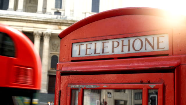 red telephone in london