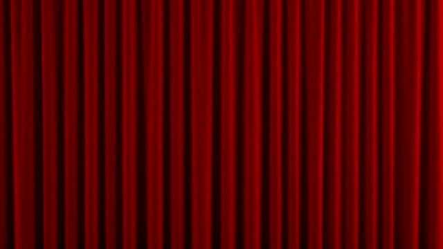 Red theater curtain GO up. With alpha channel video