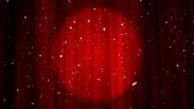Red Theatre Stage Curtain - 4K | Loopable video