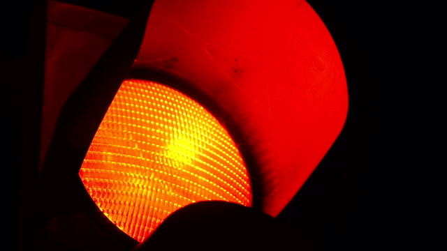 Red traffic light - Stock Video video