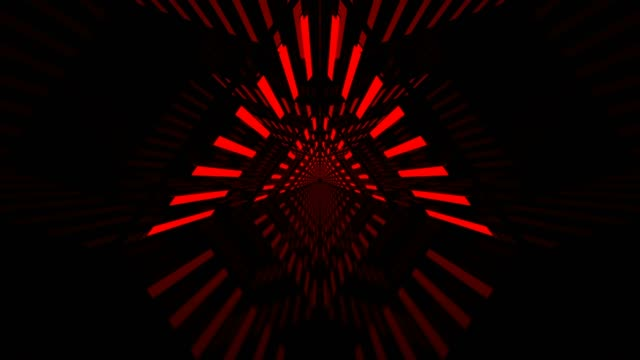 red triangle looped corridor - tunnel video stock e b–roll