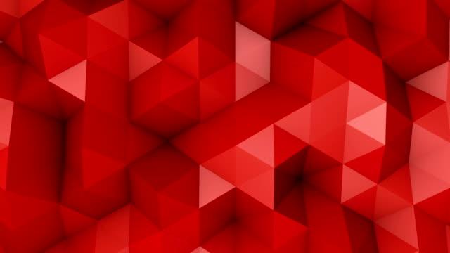 赤い三角形ポリゴン背景単発 - ローポリモデリング点の映像素材/bロール