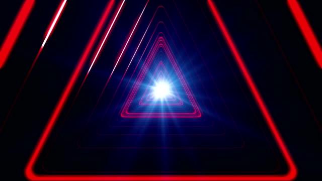 Red Triangular Tunnel Loop video