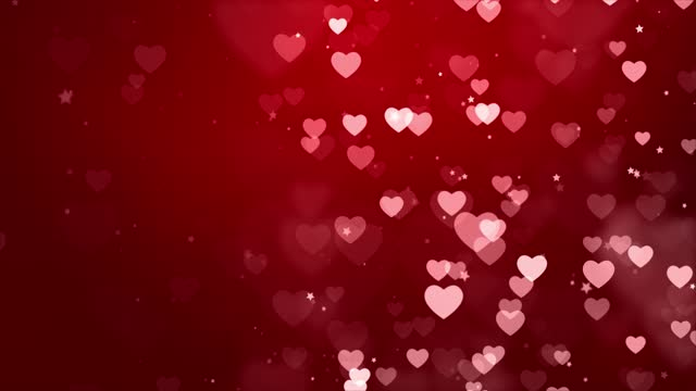 Red Valentines and Wedding Hearts loop background Animation 4k. Red Valentines and Wedding Hearts loop background animation 4K. suited for broadcast, commercials and presentations. Valentines day videos and Wedding Videos valentines day stock videos & royalty-free footage