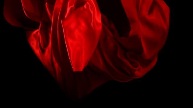 Red velvet fabric, Slow Motion video