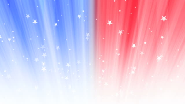 red, white and blue background loop - independence day stock videos & royalty-free footage