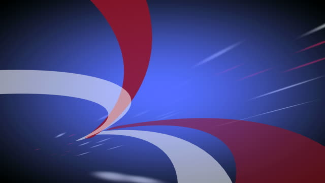 Red White and Blue Soaring Background Loop HD video