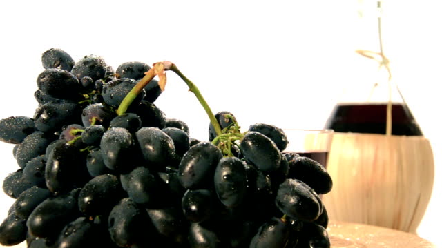 red wine and grapes video