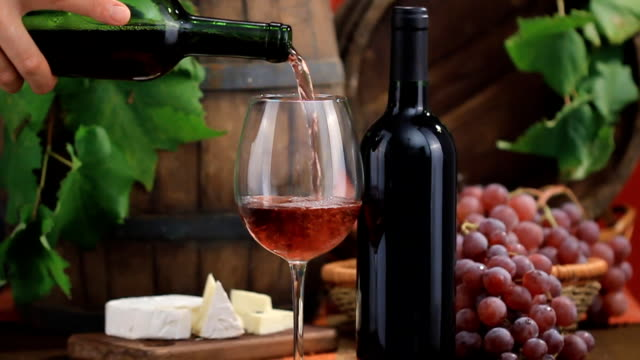 Red wine composition Red wine composition winetasting stock videos & royalty-free footage