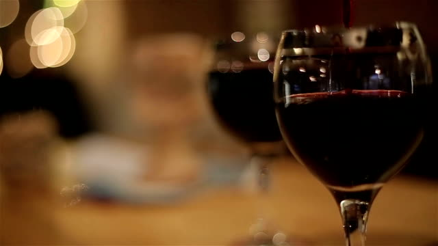 Red wine,close up video