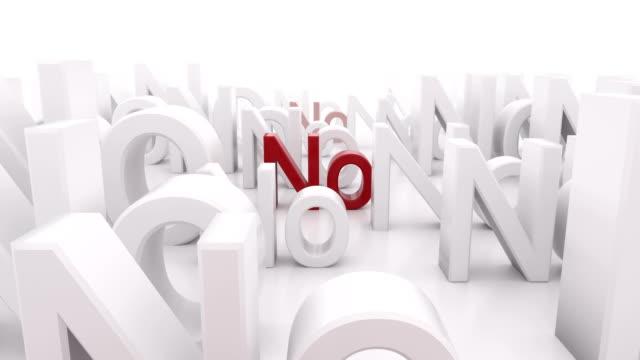 """red word """"no"""" between white """"no"""" words. - negacja filmów i materiałów b-roll"""